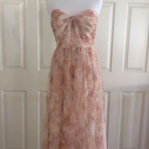 Jenny Yoo Blush Pink Annabelle Watercolor Floral
